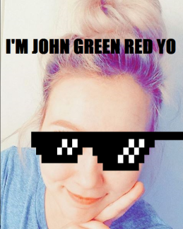 jOHN GREEN RED MEME